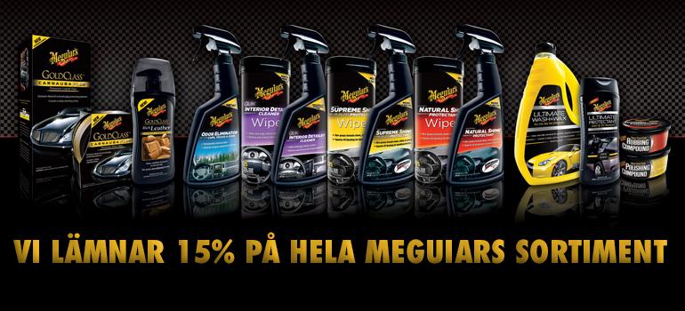 15% på Meguiars hela sortiment